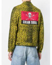 Undercover Multicolor Patterned Denim Jacket for men