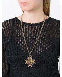 Rada' - Metallic Embellished Cross Necklace - Lyst