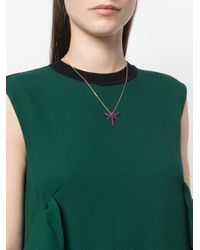 Anapsara - Metallic Small Dragon Fly Necklace - Lyst