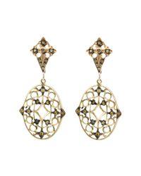 Loree Rodkin - Yellow Lace Diamond Drop Earrings - Lyst