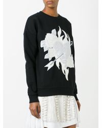 Each x Other - Black Heart & Roses Patch Sweatshirt - Lyst