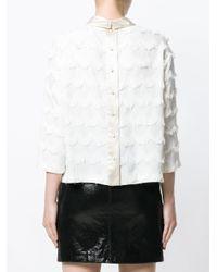 Marc Jacobs White Fringe Blouse