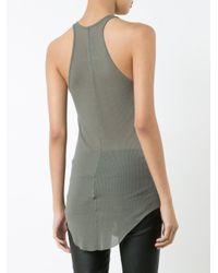 Rick Owens | Green - Long-length Vest Top - Women - Silk/viscose - 38 | Lyst