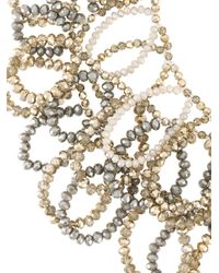 Night Market - Gray Long Beaded Loop Necklace - Lyst