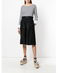 Sonia Rykiel Black High Waist Knee Length Shorts