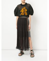 Kolor - Blue Pleated Belted Skirt - Lyst