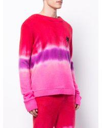 The Elder Statesman - Pink Tie Dye Sweater for Men - Lyst