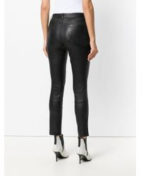 Theory - Black Skinny Biker Trousers - Lyst