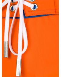 DSquared² - Orange Logo Waistband Swim Trunks for Men - Lyst