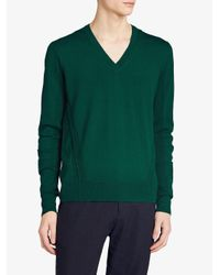 Burberry - Green Check Detail Sweater for Men - Lyst