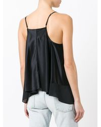 T By Alexander Wang - Black V-neck Camisole - Lyst