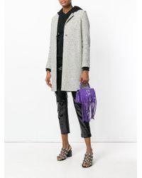 Versus  Purple Fringed Shoulder Bag