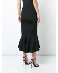 TOME - Black High-waisted Fishtail Skirt - Lyst