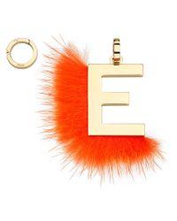 Fendi - Orange Abclick E Pendant Charm - Lyst