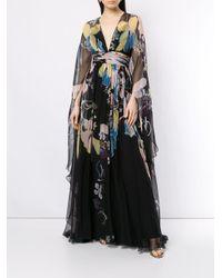 Robe longue à fleurs Zuhair Murad en coloris Black