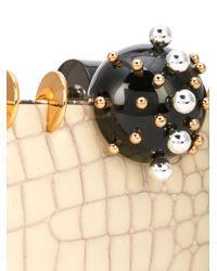 Tonya Hawkes - White Embellished Box Clutch - Lyst