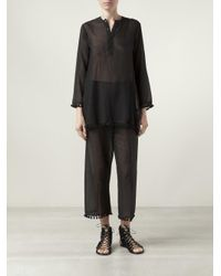 Dosa - Black Tassel Trousers - Lyst