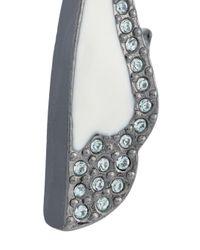 Camila Klein - Metallic Enamelled Petal Earrings - Lyst