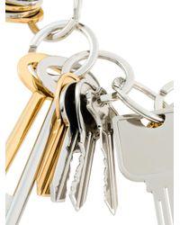 Balenciaga - Metallic Key Charm Bracelet - Lyst