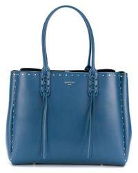 Lanvin - Blue Small Shopper Tote - Lyst