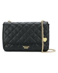 Twin Set - Black Diamond Quilt Shoulder Bag - Lyst