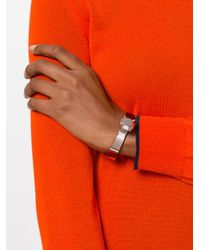 MM6 by Maison Martin Margiela - Metallic Stone Look Cuff Bangle Bracelet - Lyst