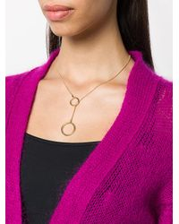 Isabel Marant - Metallic Circle Loop Necklace - Lyst