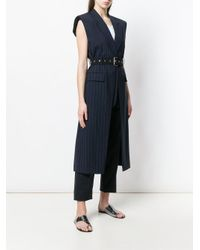 3.1 Phillip Lim - Blue Long Belted Vest - Lyst