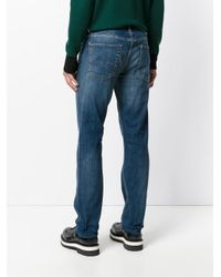 7 For All Mankind - Blue Stonewashed Regular Jeans for Men - Lyst