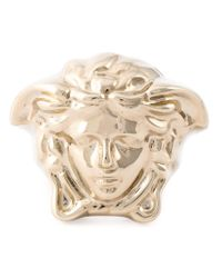 Versace - Metallic Medusa Ring - Lyst