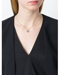 KENZO - Metallic Mini 'eye' Necklace - Lyst