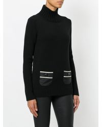 Moncler Grenoble - Black Striped Pocket Sweater - Lyst