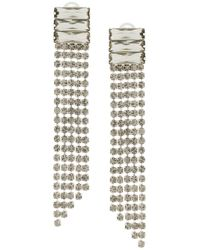 Alberta Ferretti - Metallic Crystal Waterfall Earrings - Lyst