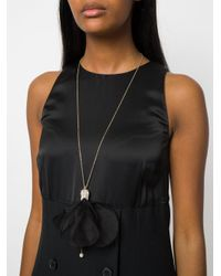 Lanvin - Black Collana Motivo Petali - Lyst