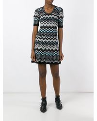 M Missoni | Black Zig Zag Pattern Dress | Lyst