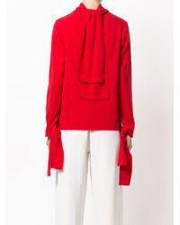 Joseph - Red Neck Tie Blouse - Lyst