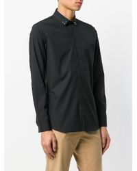 Neil Barrett Black Studded Collar Shirt for men