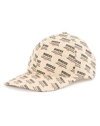 2b43ad21cda753 ... Lyst - Gucci Gg Monogram Print Cap in Natural for Men 100% top quality  28739 ...