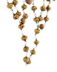 Night Market - Brown Beaded Oversized Choker Necklace - Lyst