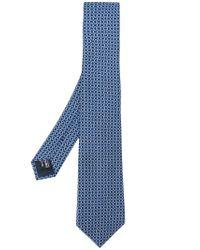 Giorgio Armani - Blue Printed Tie for Men - Lyst