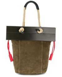 Ports 1961 - Green Rope Handle Flap Tote Bag - Lyst