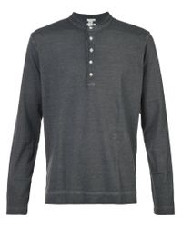 Massimo Alba - Gray Henley T-shirt for Men - Lyst