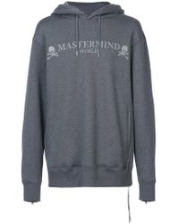 Mastermind Japan Gray Logo Hoody for men