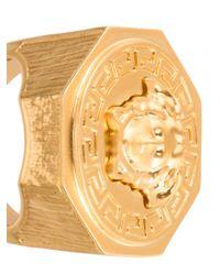 Versace - Metallic Medusa Ring for Men - Lyst