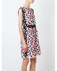 Giamba - White Cherry Print Dress - Lyst