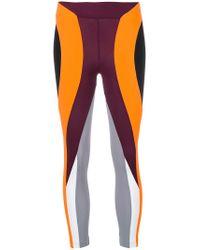 No Ka 'oi - Black Colour Block Sport Leggings - Lyst