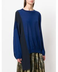 Stella McCartney - Blue Silk-panelled Sweater - Lyst