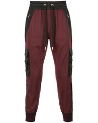 Dolce & Gabbana Red Regular Track Trousers for men