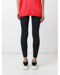 Pleats Please Issey Miyake - Black Ribbed Leggings - Lyst