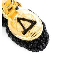 Oscar de la Renta   Black Two-tiered Short Tassel Earring   Lyst